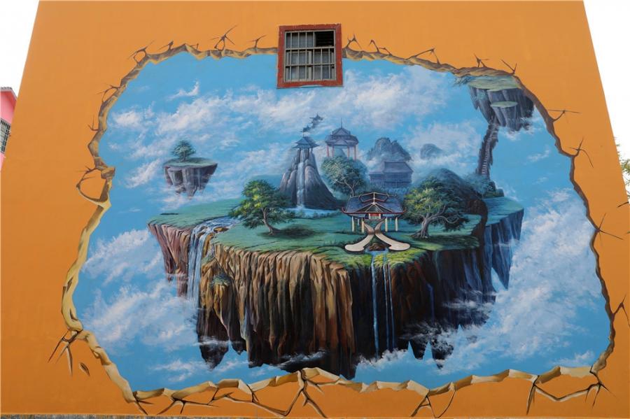 彩绘常用的弗克风硅质画颜料性能可靠,健康环保,石化后耐水耐候性强,非常适合做墙绘彩绘。