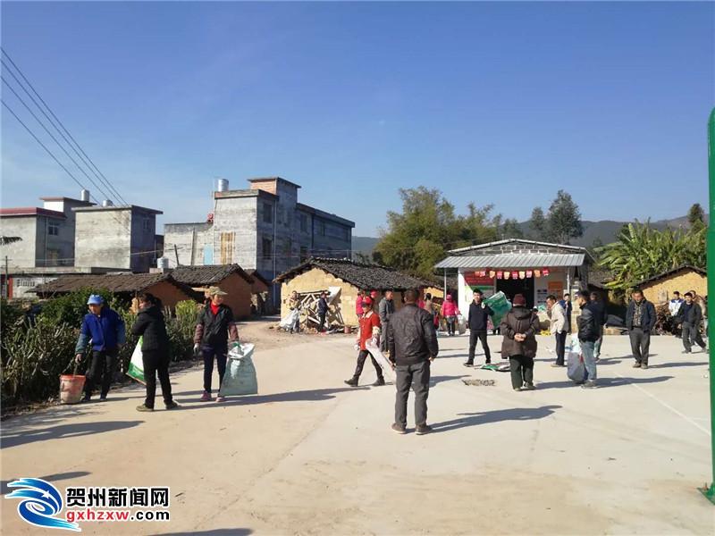 清洁乡村人人忙 喜迎春节家家乐