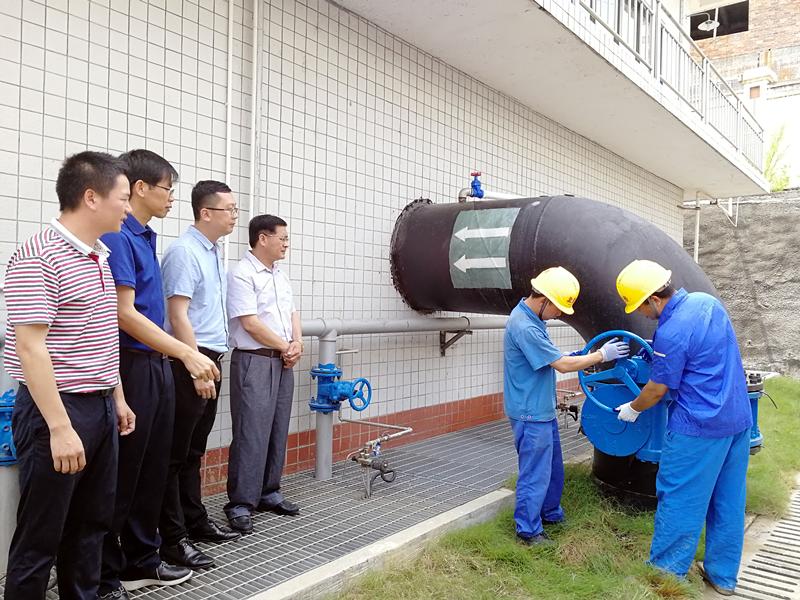 贺州市望高至担杆岭DN1400原水输水管道试运行成功