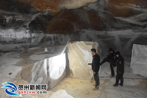 平桂国土局捣毁钟乳石窿洞非采窝点