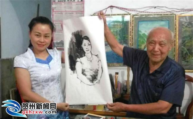 89岁周仰钦 画笔画出最美夕阳红
