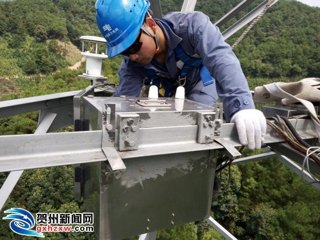 """贺州供电局:提前开展线路覆冰在线监测装置""""体检"""""""