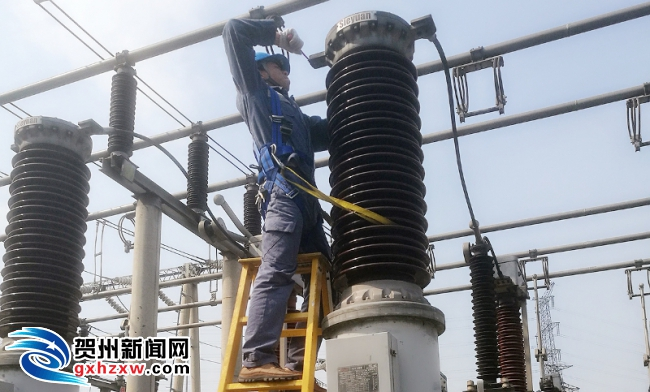 """贺州供电局:""""消除设备缺陷""""保障粤桂产业合作示范区供电"""