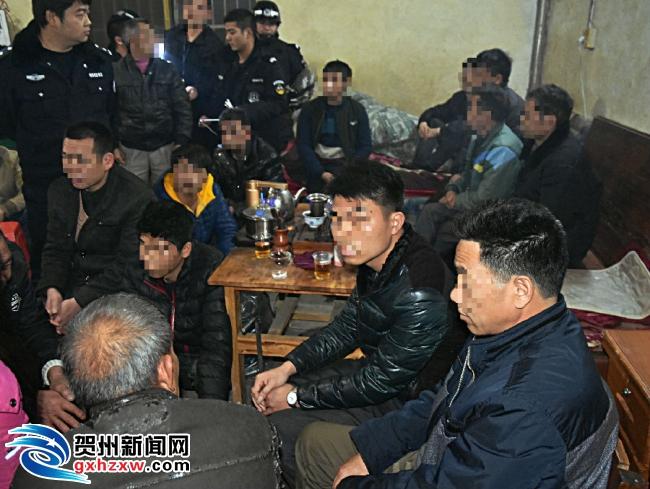 贺州两村店涉以赌促销 警方夜袭端掉