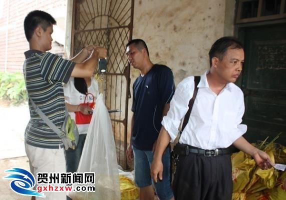 钟山县燕塘镇万亩早稻高产创建通过测产验收