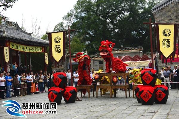 广西黄姚古镇举办斗酒节