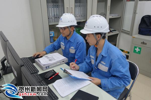 贺州供电局联合能源公司开展风电送出线路的抗冰演练